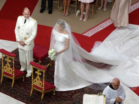 wedding Prince Albert Charlene Wittstock