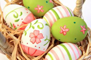 ζωγραφισμένα πασχαλινά αυγά για διακόσμηση