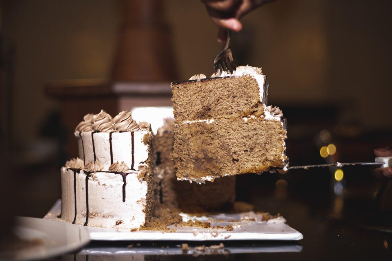 καφέ τούρτα για δεξίωση