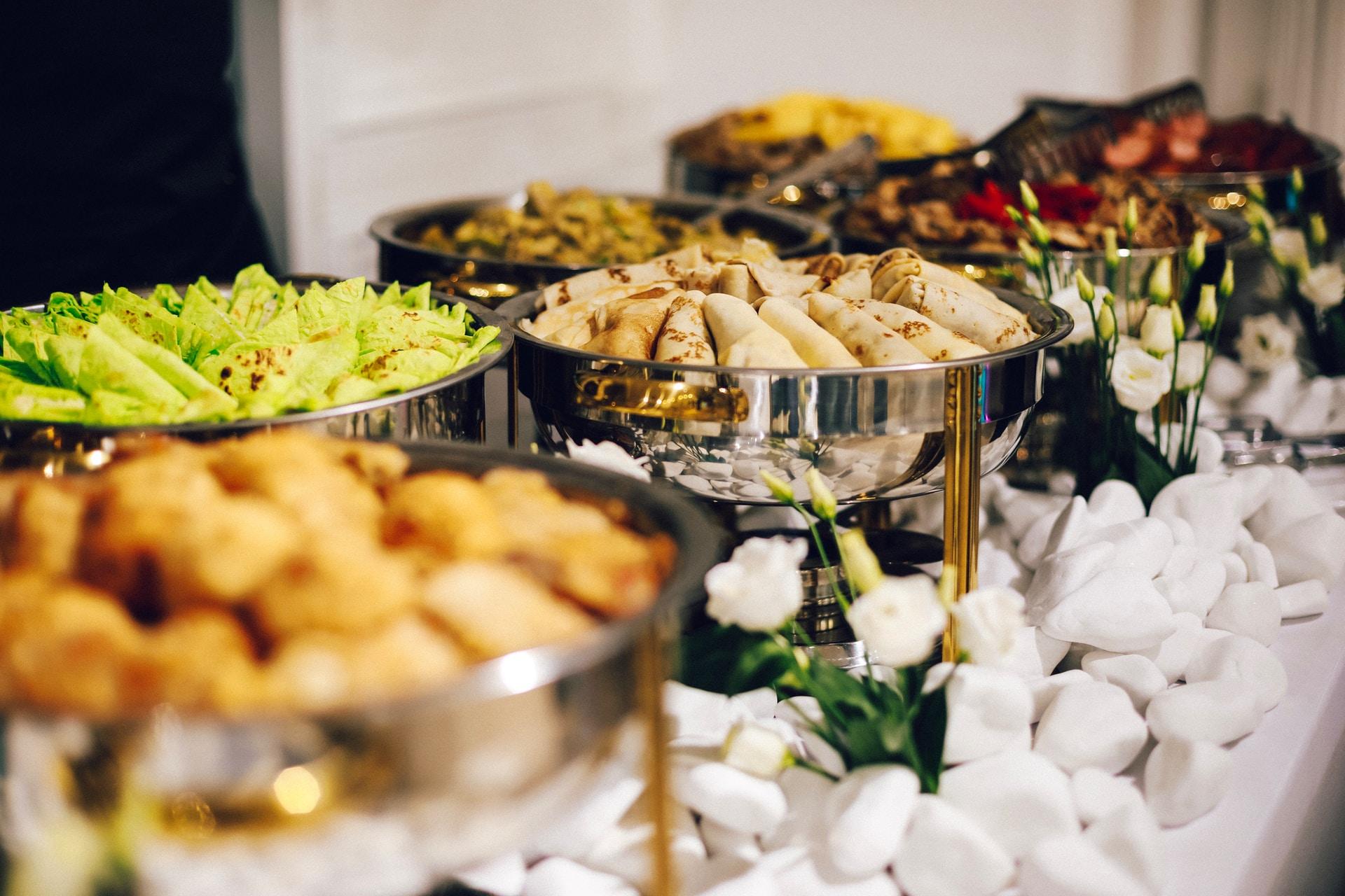 μενού δεξίωσης καθιστό buffet
