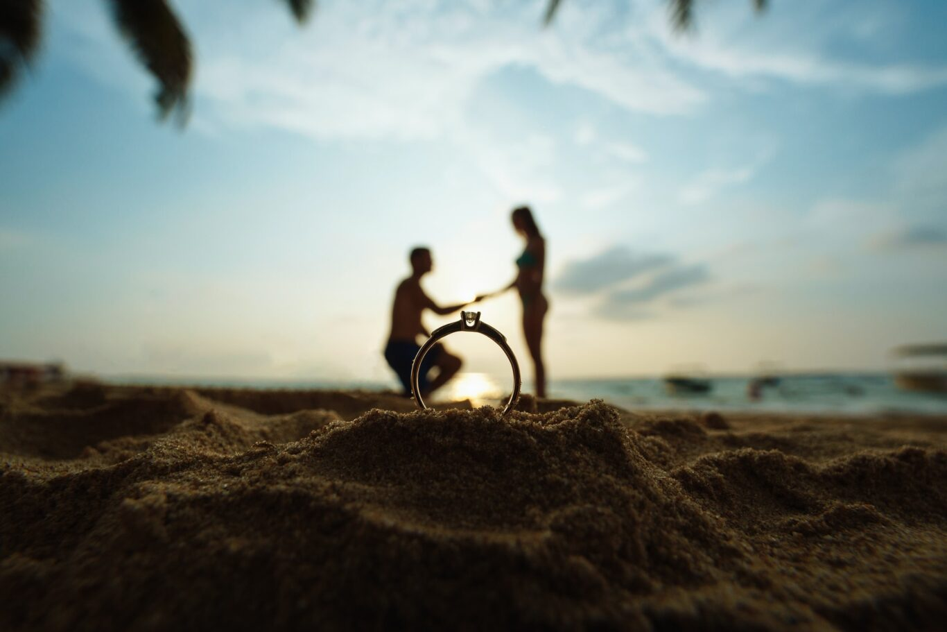 πρόταση γάμου στην παραλία